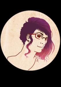illustration couleur autoportrait