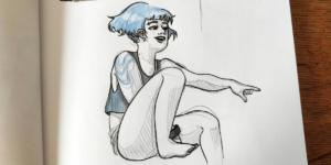 Croquis bleu 2
